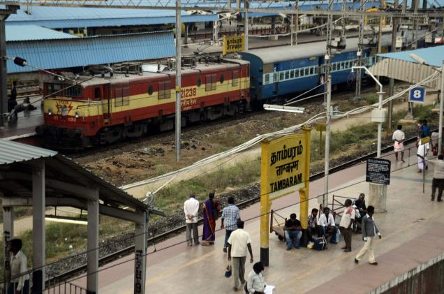 Chugging along: A view of Tambaram railway station. / Photo: M Srinath / The Hindu