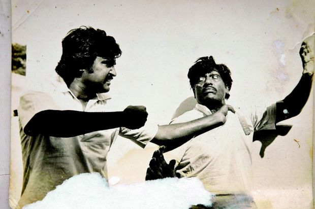 Judo Rathnam with actor Rajinikanth in a Tamil film. / DC