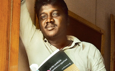 Writer Mari Selvaraj with his book | N Vinoth Kumar / Express