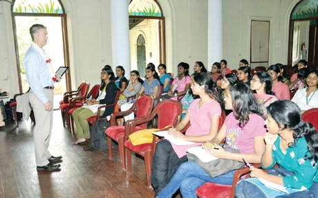 WCC students being trained by American faculties as a part of the transfer program