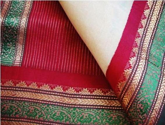 For that rich look: A re-created Kanchivaram sari./ by Special Arrangement / The Hindu