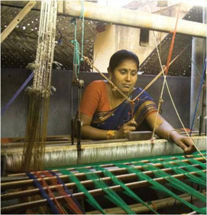 A weaver at work / by Special Arrangement / The Hindu