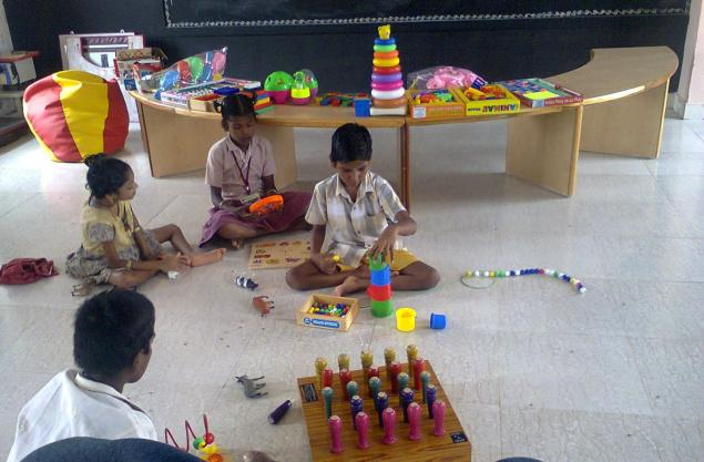 Differently abled children at a day care centre in Perambalur district./ by Special Arrangement / The Hindu