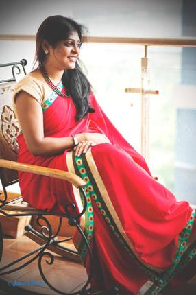 Joshna Rebecca Naveen in one of her creations./ Photo: Justapose Photos /  Special Arrangement / The Hindu