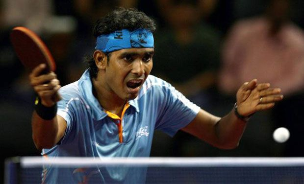 Sharath Kamal's improved backhand has helped him equal his career-best ranking of 39 in nearly four years. Photo: PTI/ File
