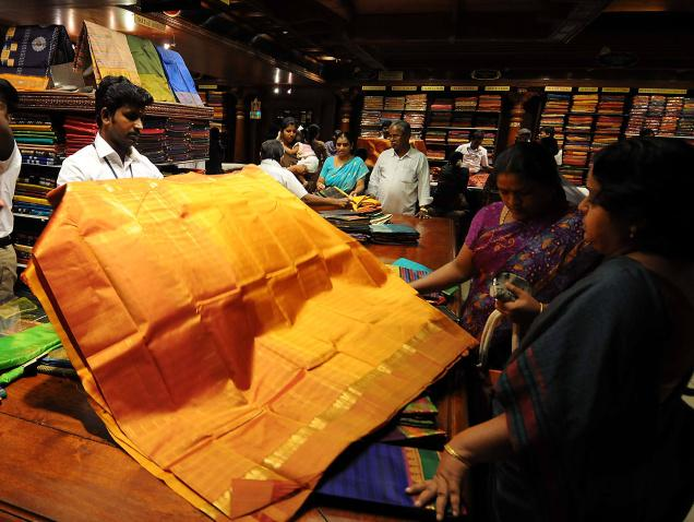 Chennai, well-known for its rich Kanjeevaram saris, can undoubtedly be called India's Mecca of silk./  Photo: K.V. Srinivasan / The Hindu