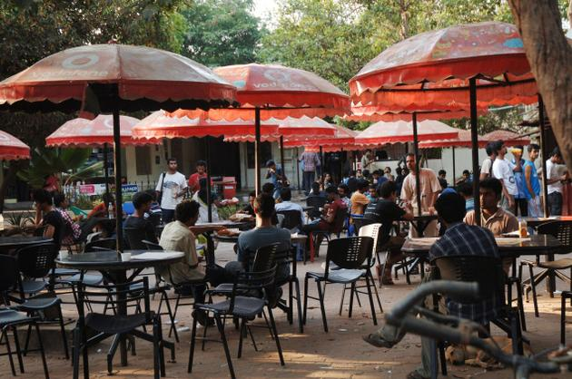 In-house canteens are an integral part of the campus. Photo: M. Karunakaran / The Hindu