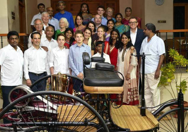 Members of the G.D.Naidu family with the Stoll family of Esslingen, Germany, during a celebration of the 75th year of friendship between the two families, in Coimbatore. Photo:K.Ananthan / The Hindu