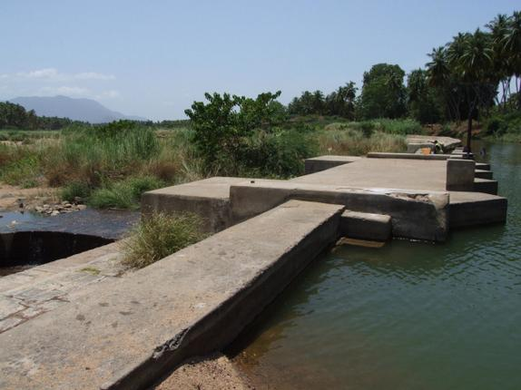 The dam constructed by Parakrama Pandian in Kuruvithurai. Photo: Special Arrangement
