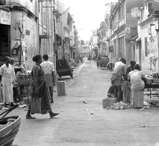 A view of the Thana Road, Arasappa Mudali Street junction. It is one of the places that is the parties' favourite venues for organising rallies.— PHOTO: THE HINDU ARCHIVES