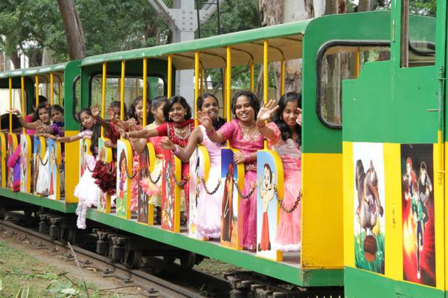 Children enjoy a ride at the toy train at the Regional Rail Museum PHOTO: SPECIAL ARRANGEMENT