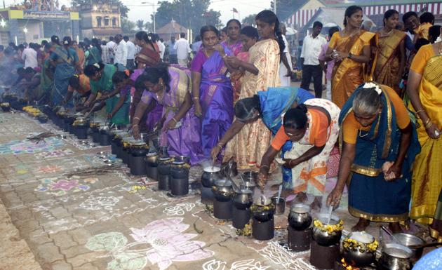 The Pongal festival celebrated as a community event / The Hindu