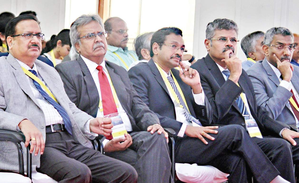 From (L) Justices R Sudhakar, C T Selvam, M M Sundaresh, T S Sivagnanam and V Bharathidasan at Loyola Alumni Meet, in the city on Sunday | Romani Agarwal