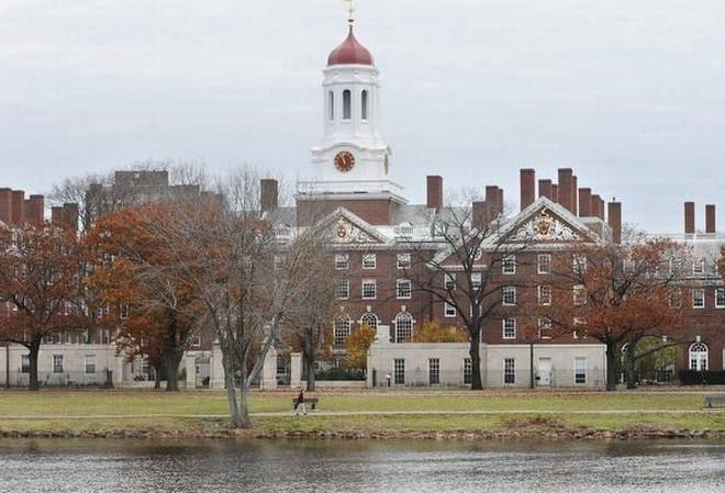 File photo shows the campus of Harvard University in Cambridge. | Photo Credit: AP