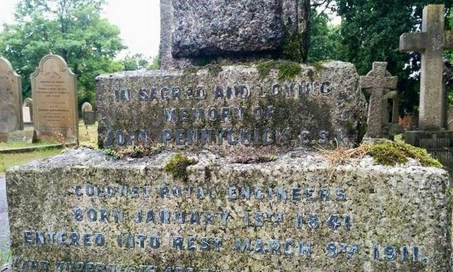 John Pennycuick's grave in England.