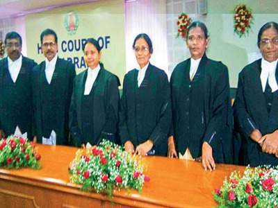 Six judges were sworn in on Friday taking the number of judges to 60 which is 15 short of the sanctioned strength